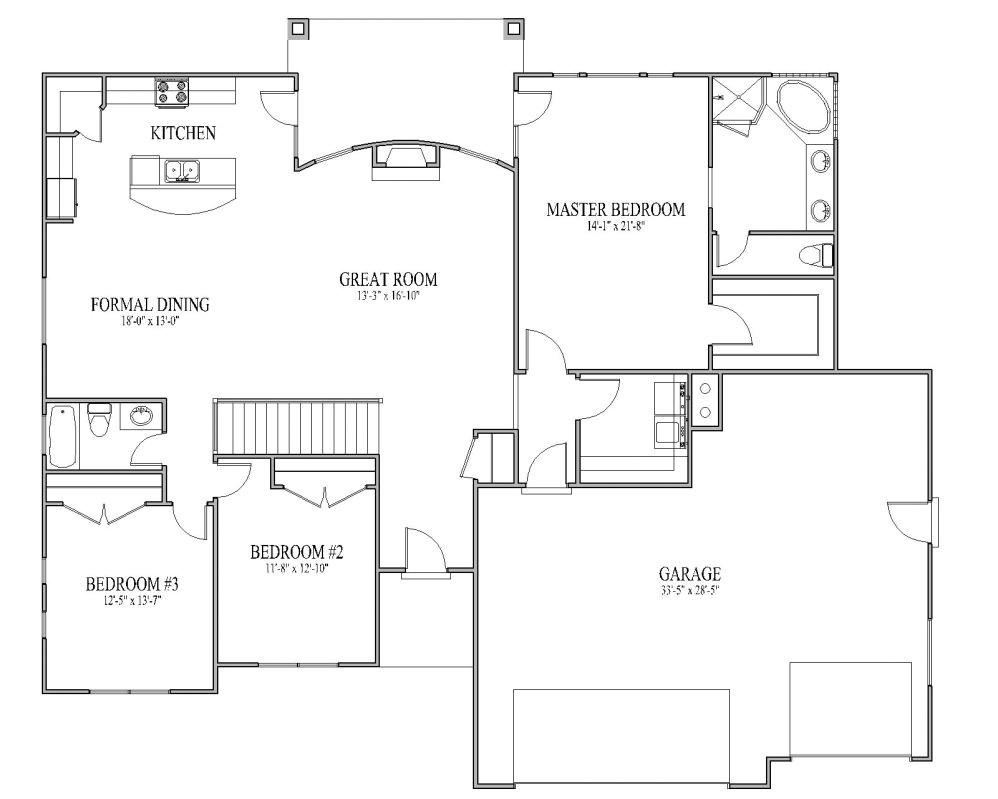 Open Home Floor Plans Simple Open House Plans Smalltowndjs Com