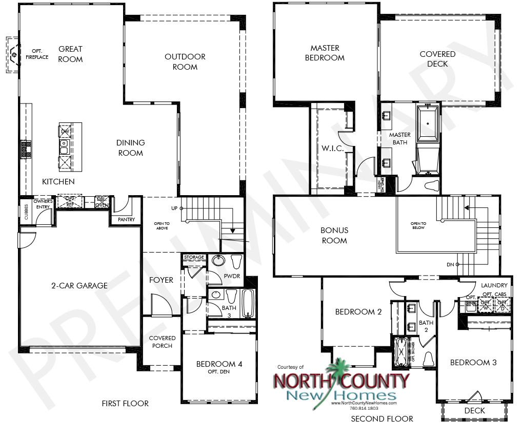 portofino floor plans pacific highland ranch