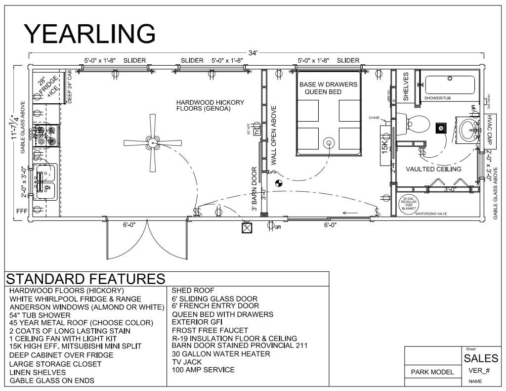 park model log cabins