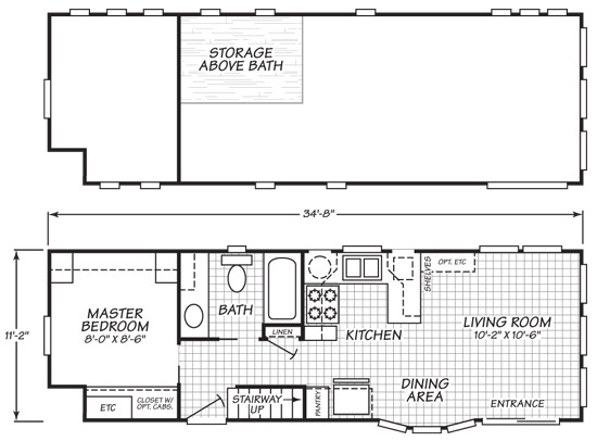 park model tiny house with variety of floor plans