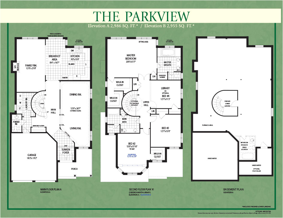 parkview homes floor plans new the hamilton in chandon reserve villas