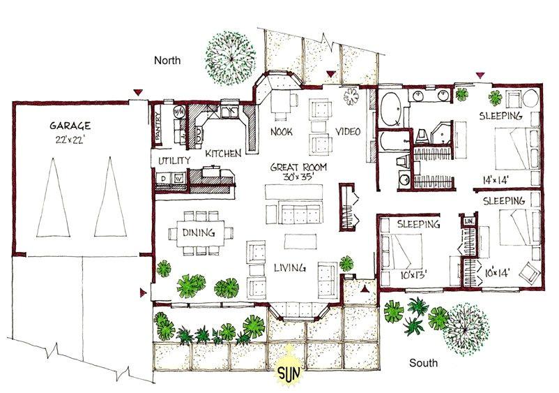 passive solar ranch house plans