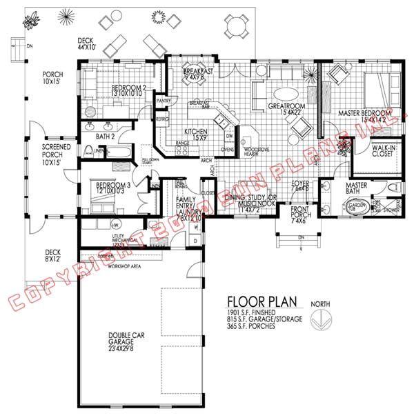 passive solar ranch home design