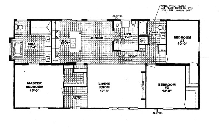 Patriot Mobile Home Floor Plans Patriot Floor Plan Columbia Discount Homes