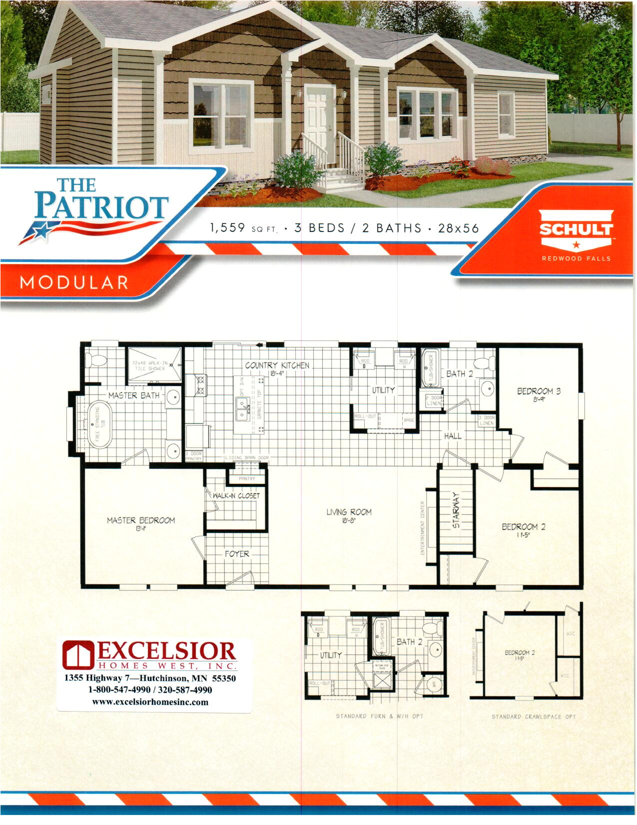 schult homes patriot modular home plan