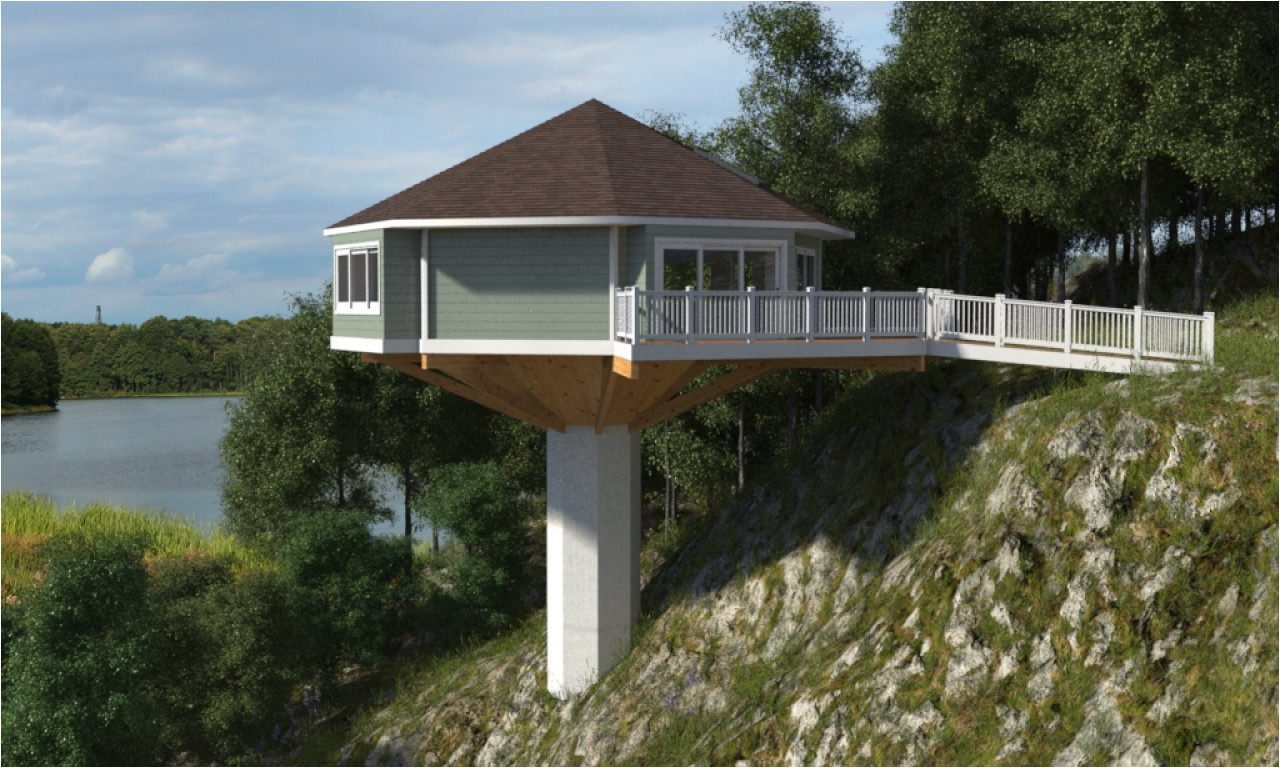 Pedestal House Plans Octagon House On Pedestal Pedestal Octagon House Piling