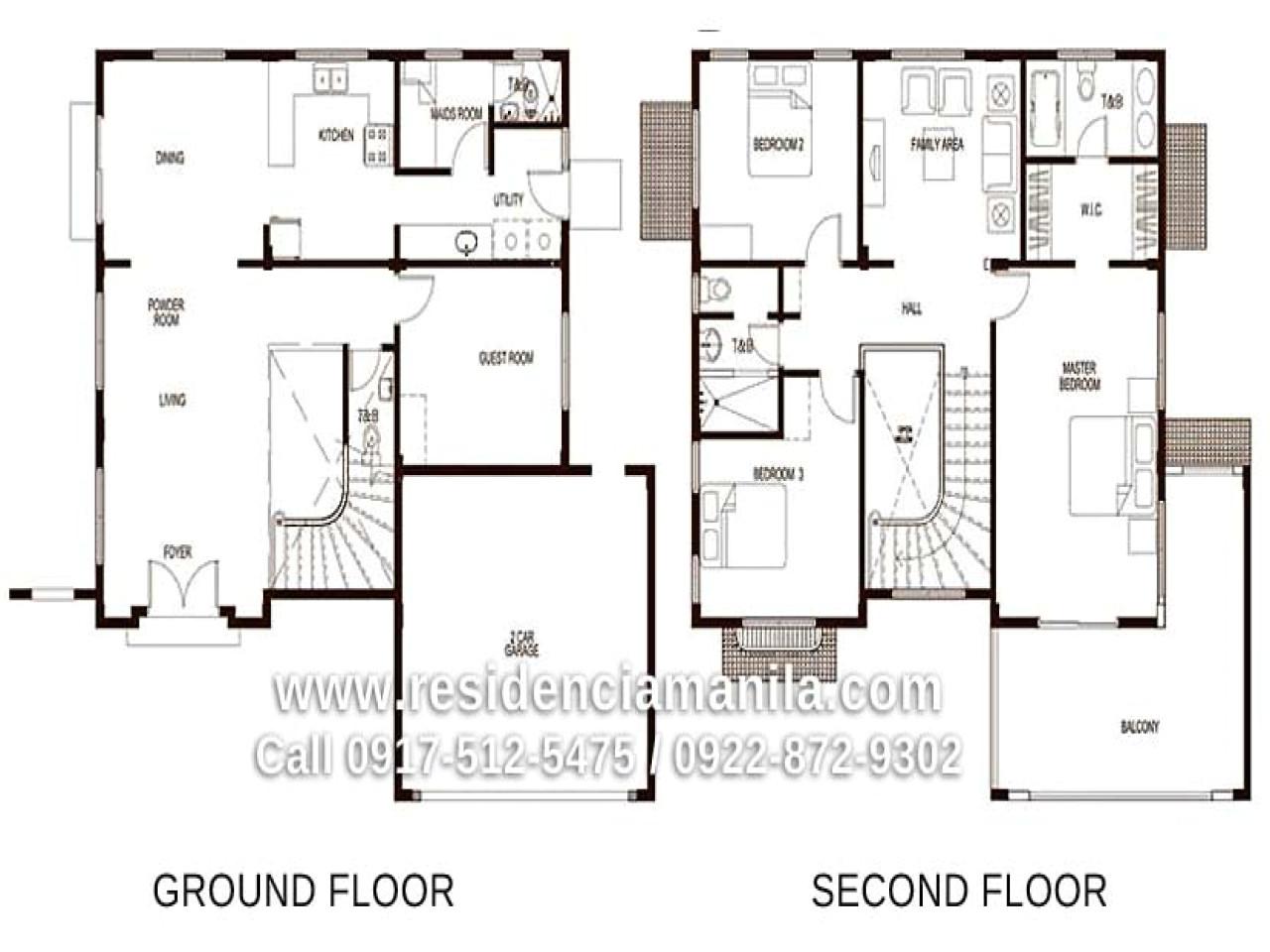 bungalow house designs floor plans philippines