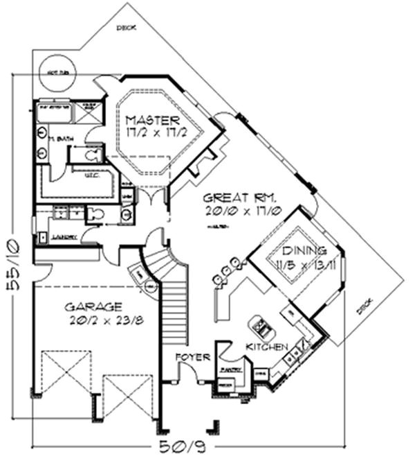 Pie Shaped Lot House Plans House Plans Home Design M 2115 2782