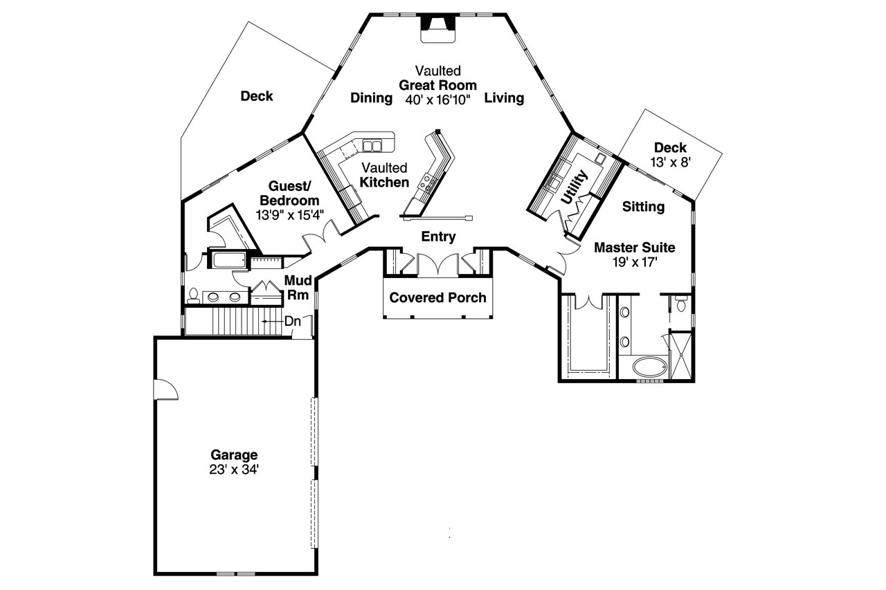 reverse pie shaped lot house plans