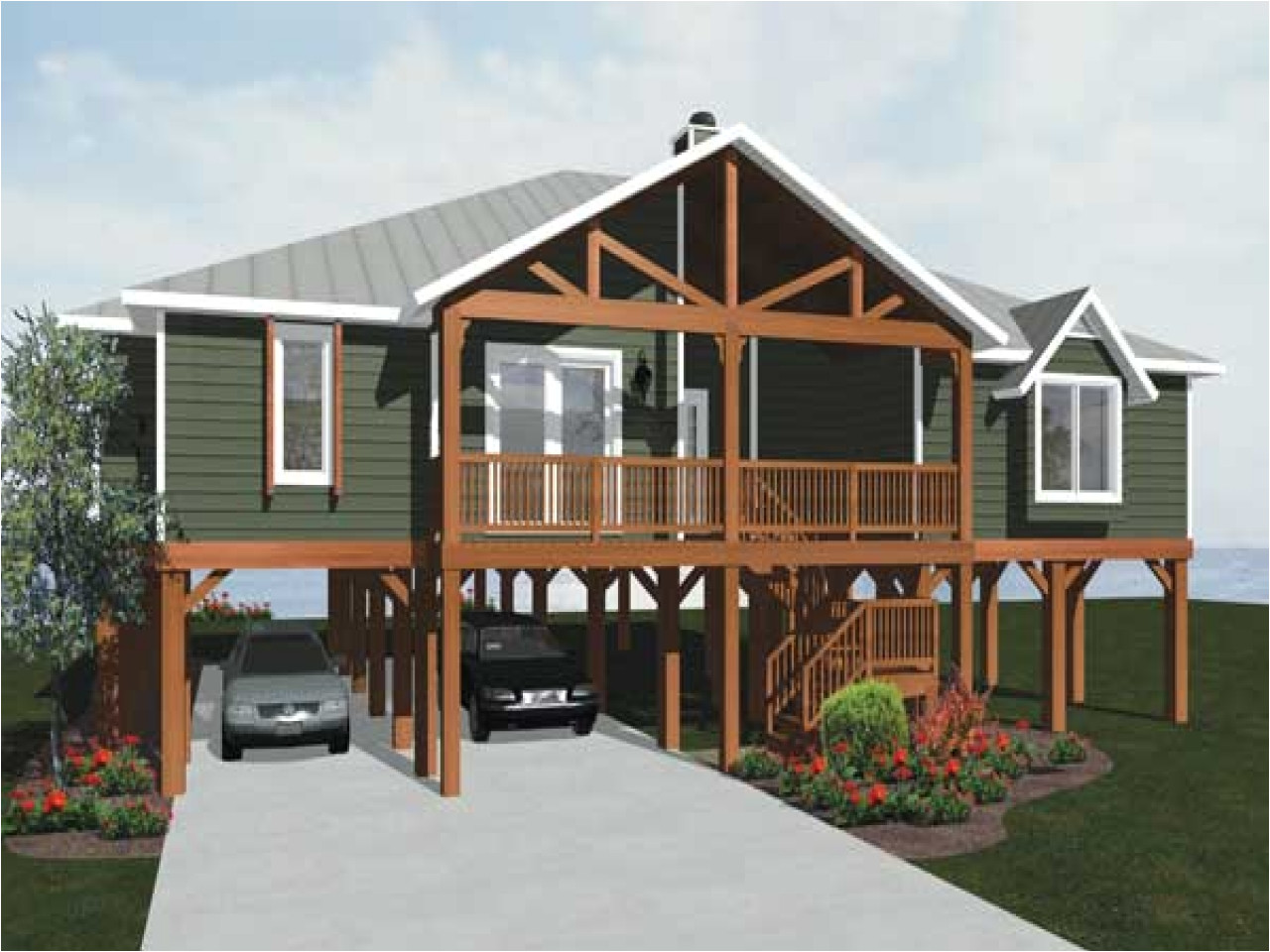 ceb155f96e113f98 beach house plans on piers beach house plans on pilings