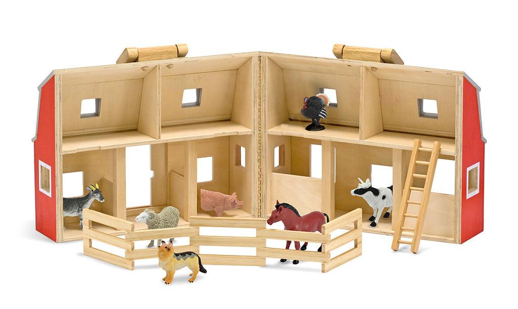 product pol 511 drewniana stajnia i farma ze zwierzetami melissa doug 13700
