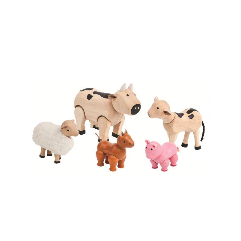plan toys farm animal set