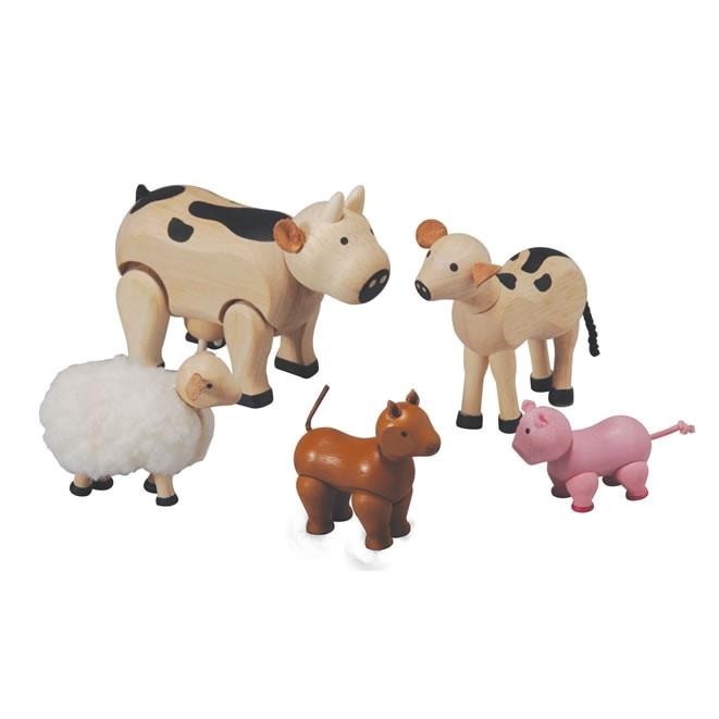 Plan toys Farm House Plan toys Farm Animals Set 7135 Wooden Farm Animals