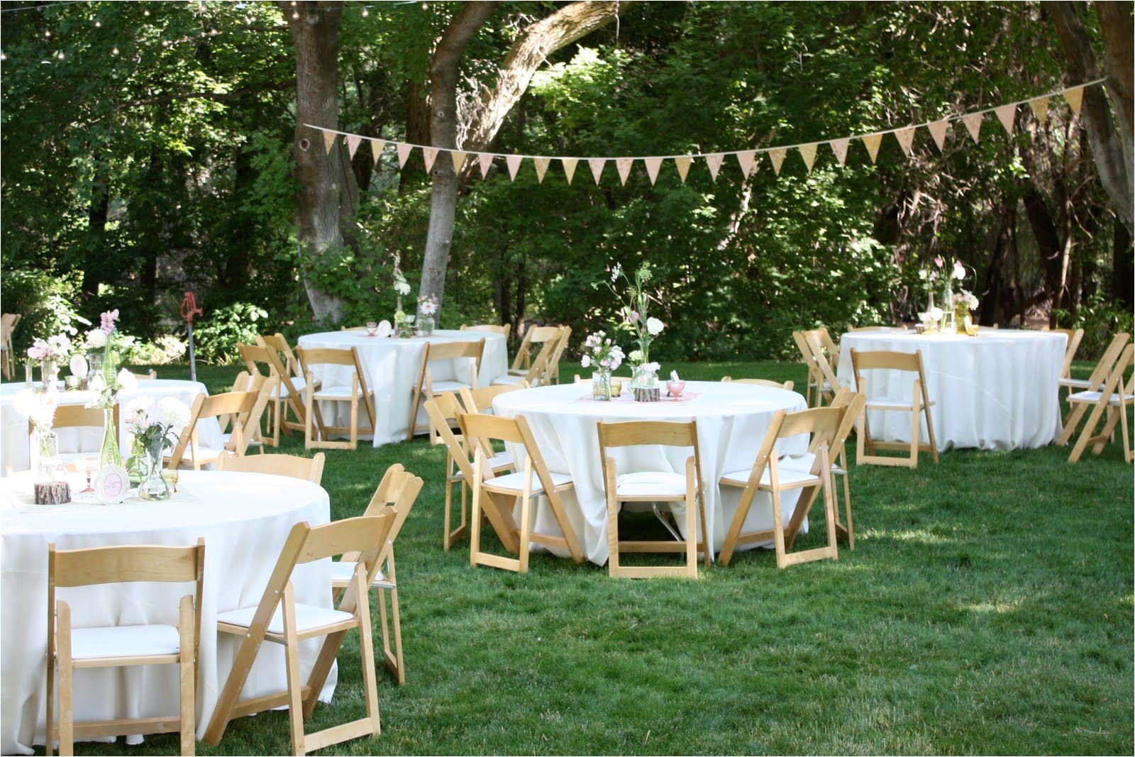 Planning A Home Wedding Backyard Wedding Reception Decoration Ideas Wedding