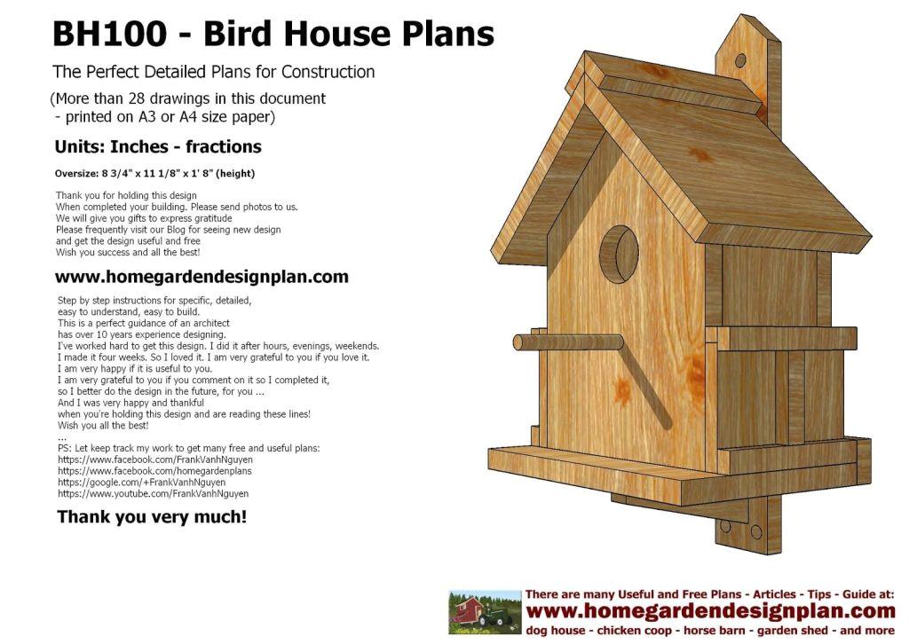 building bird houses free plans