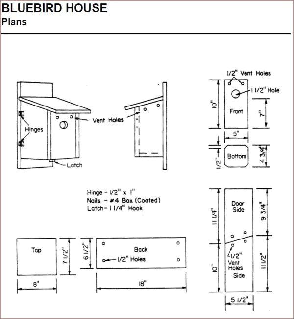 Plans for Bluebird Houses Bluebird House Plans Ohio Woodworktips