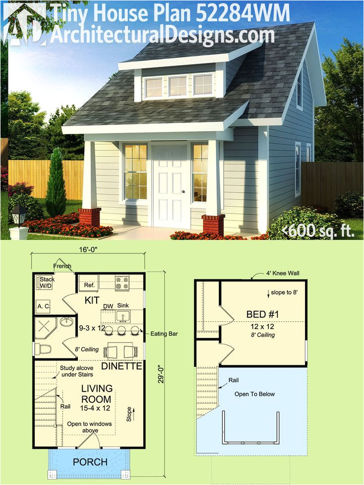 tiny house plans with garage underneath