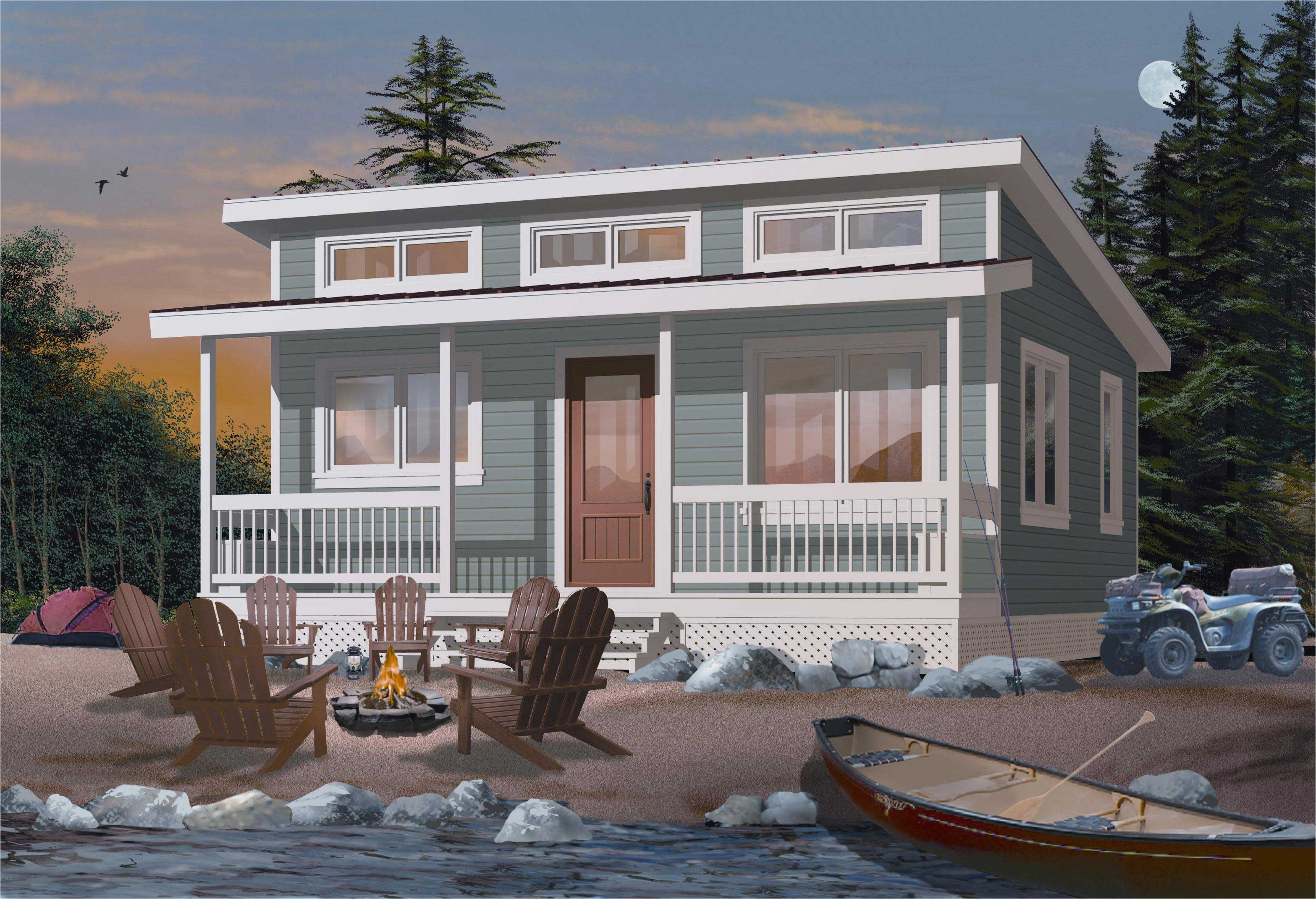 Plans for Little Houses Small Vacation Home Plans or Tiny House Home Design