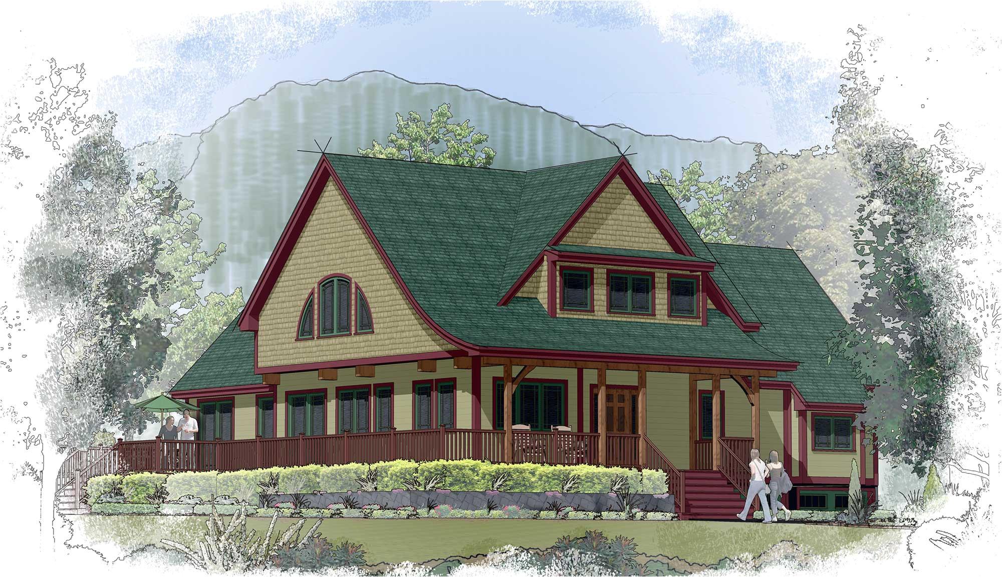 post frame house plans modern