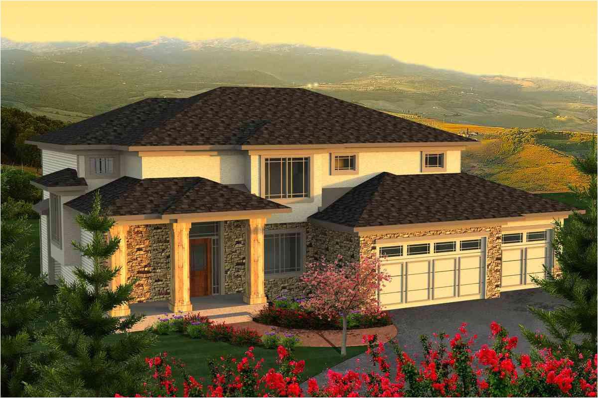 2 story prairie house plan 89924ah