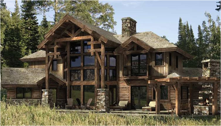 dakota log and timber home plan