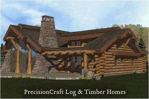 Precisioncraft Log Home Floor Plans Rendering Of A Handcrafted Log Home Log Home Located In