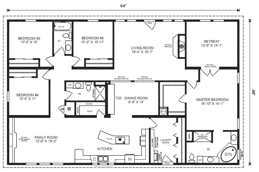 Prefabricated Homes Floor Plans Modular Home Plans 4 Bedrooms Mobile Homes Ideas