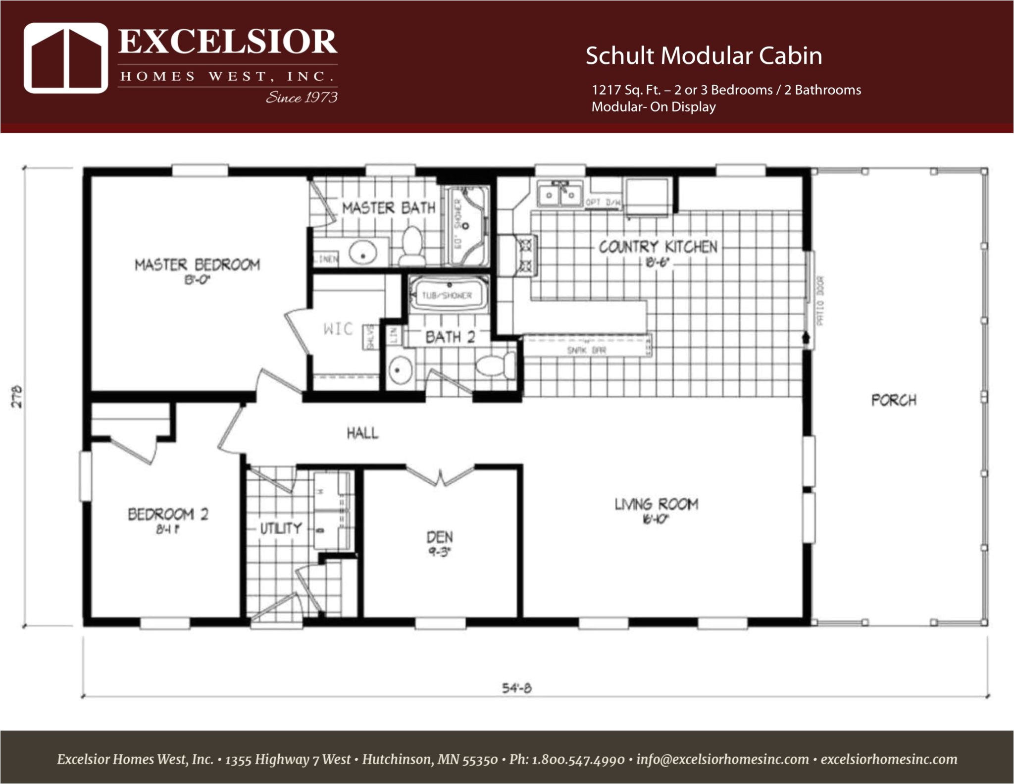 schult modular cabin model home