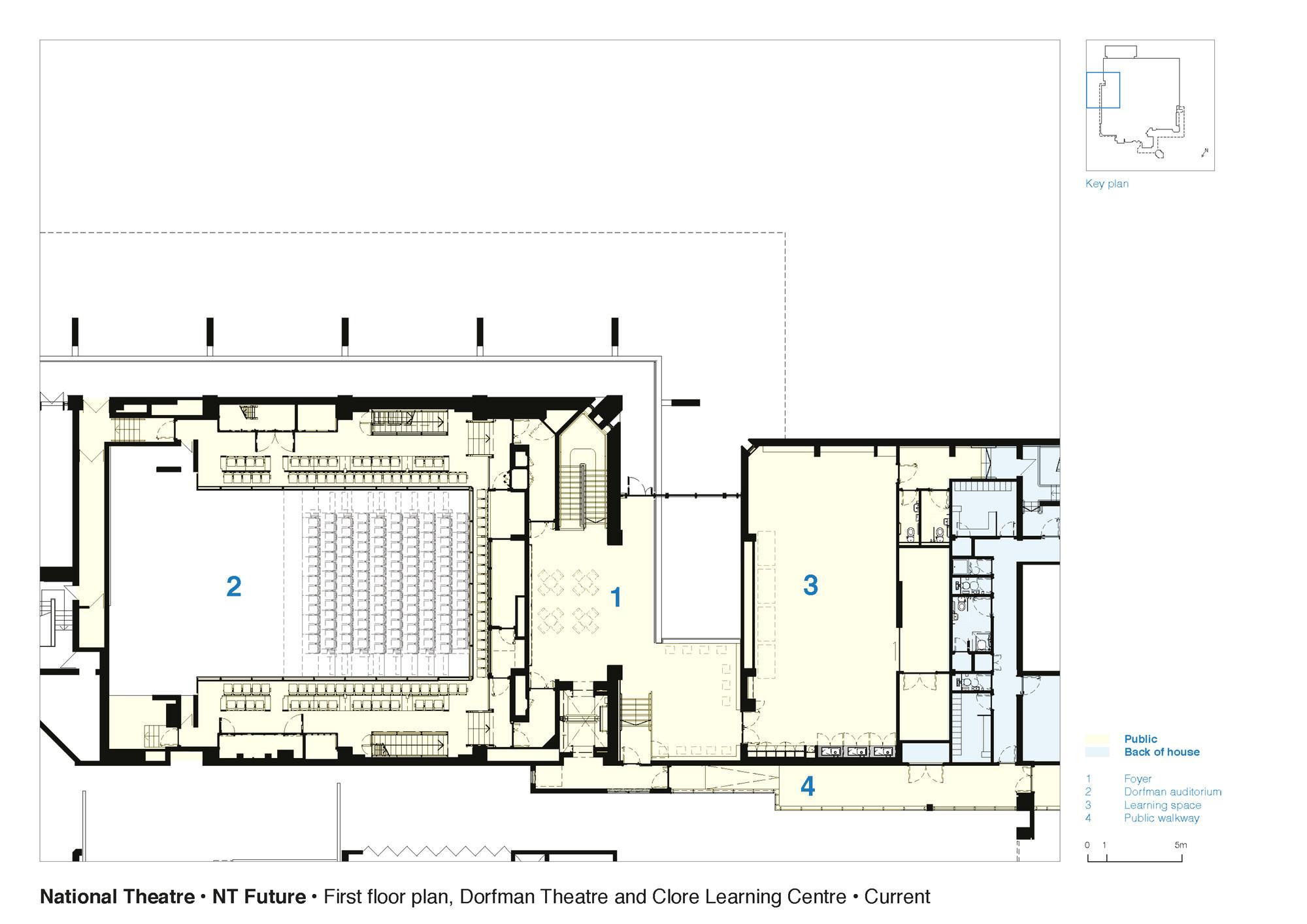 555bce6fe58ece6a9f0001b4 national theatre haworth tompkins first floor plan dorfman theatre