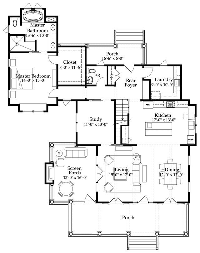 Production Home Plans River Place Cottage southern Living House Plans