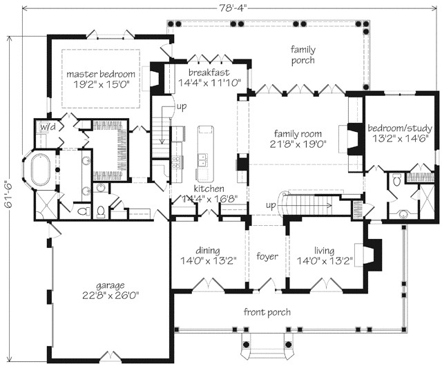 southern living house plans first floor master
