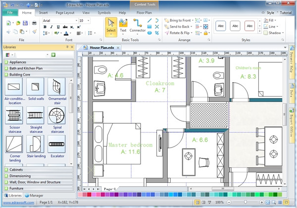Program to Make House Plans 28 Home Drawing software Architecture Floor Plan Used with