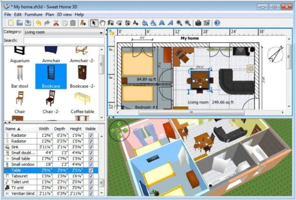 sweet home 3d free interior design software