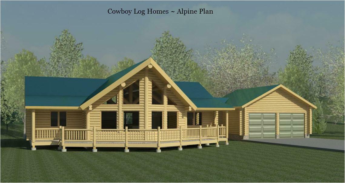 Prow Front Home Plans Alpine Plan 1 743 Sq Ft Cowboy Log Homes