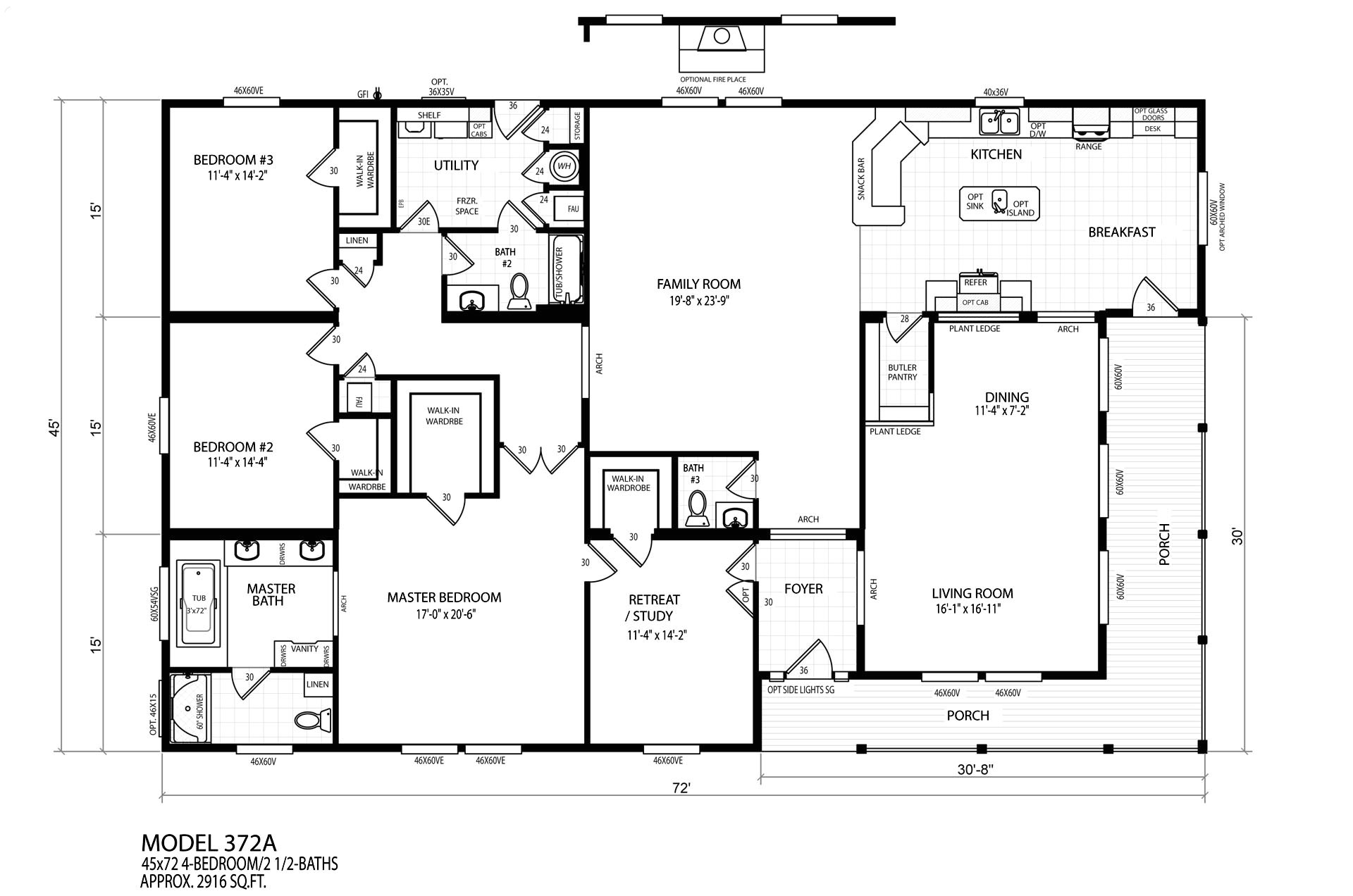 10287 quad wide mobile home floor plans
