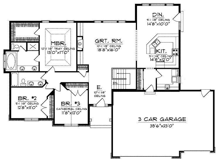 open floor plan ranch house designs