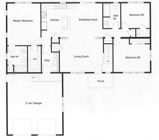 ranch kitchen layout