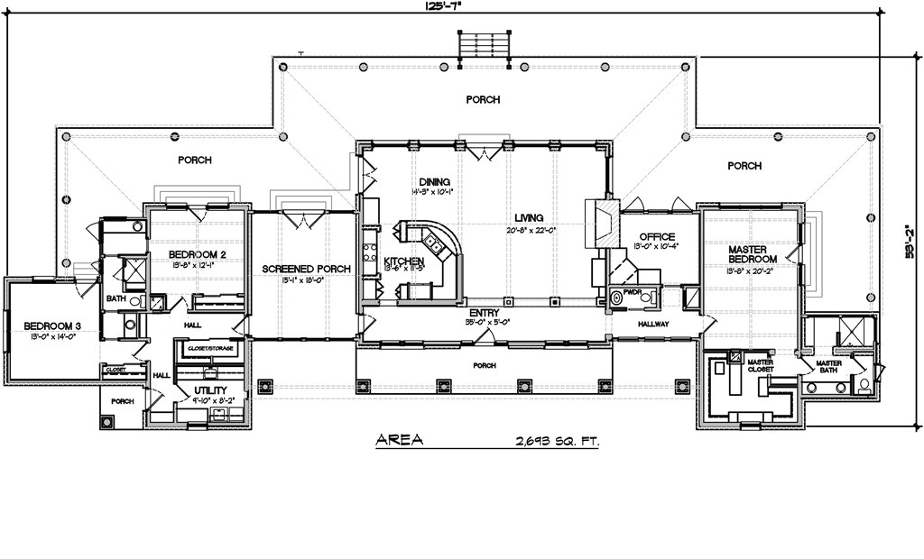 2693 square feet 3 bedrooms 2 5 bathroom contemporary house plans 0 garage 32304