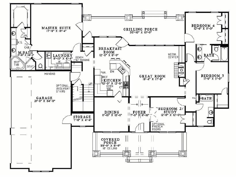 rambler house plans with bonus room