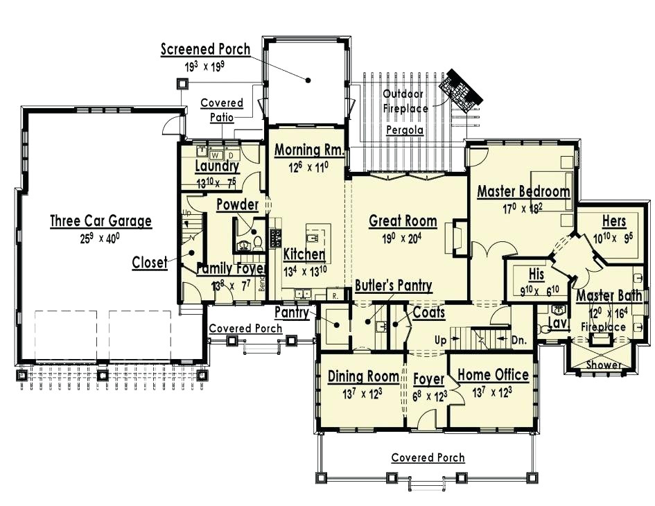 single story floor plans with inlaw suite