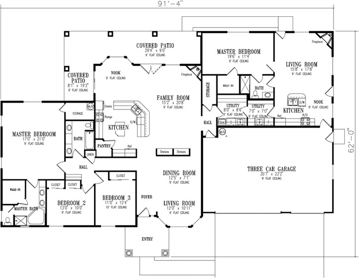 ranch home plans with inlaw quarters