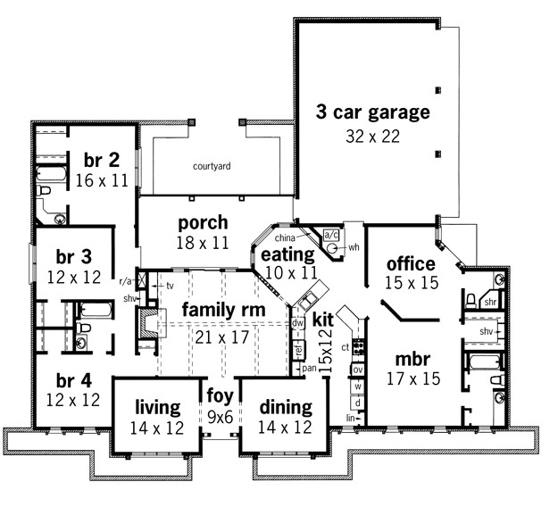 ranch home plans with mother in law suite
