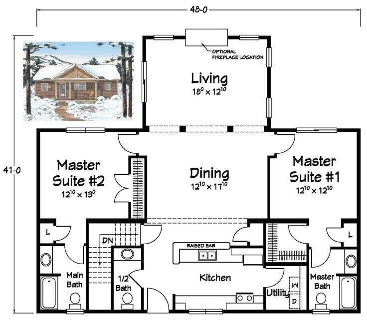 ranch style house plans with two master suites best of 26 best ranch plans images on pinterest