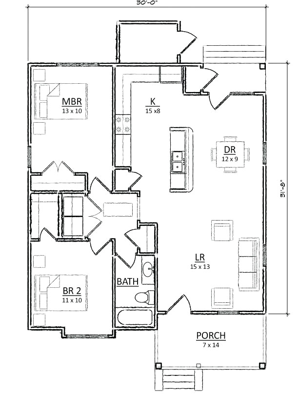 small retirement home plans
