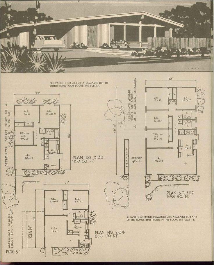 retro house plans