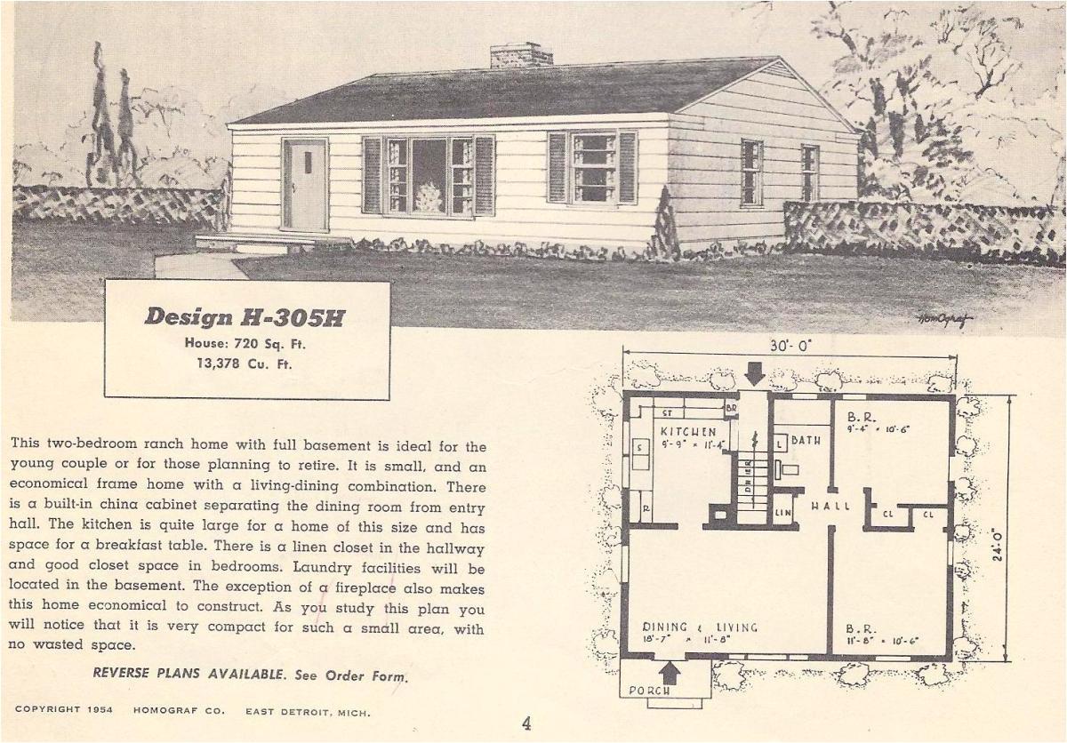 vintage house plans 305h