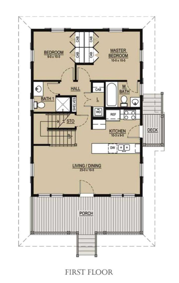 reverse floor plans for beach houses