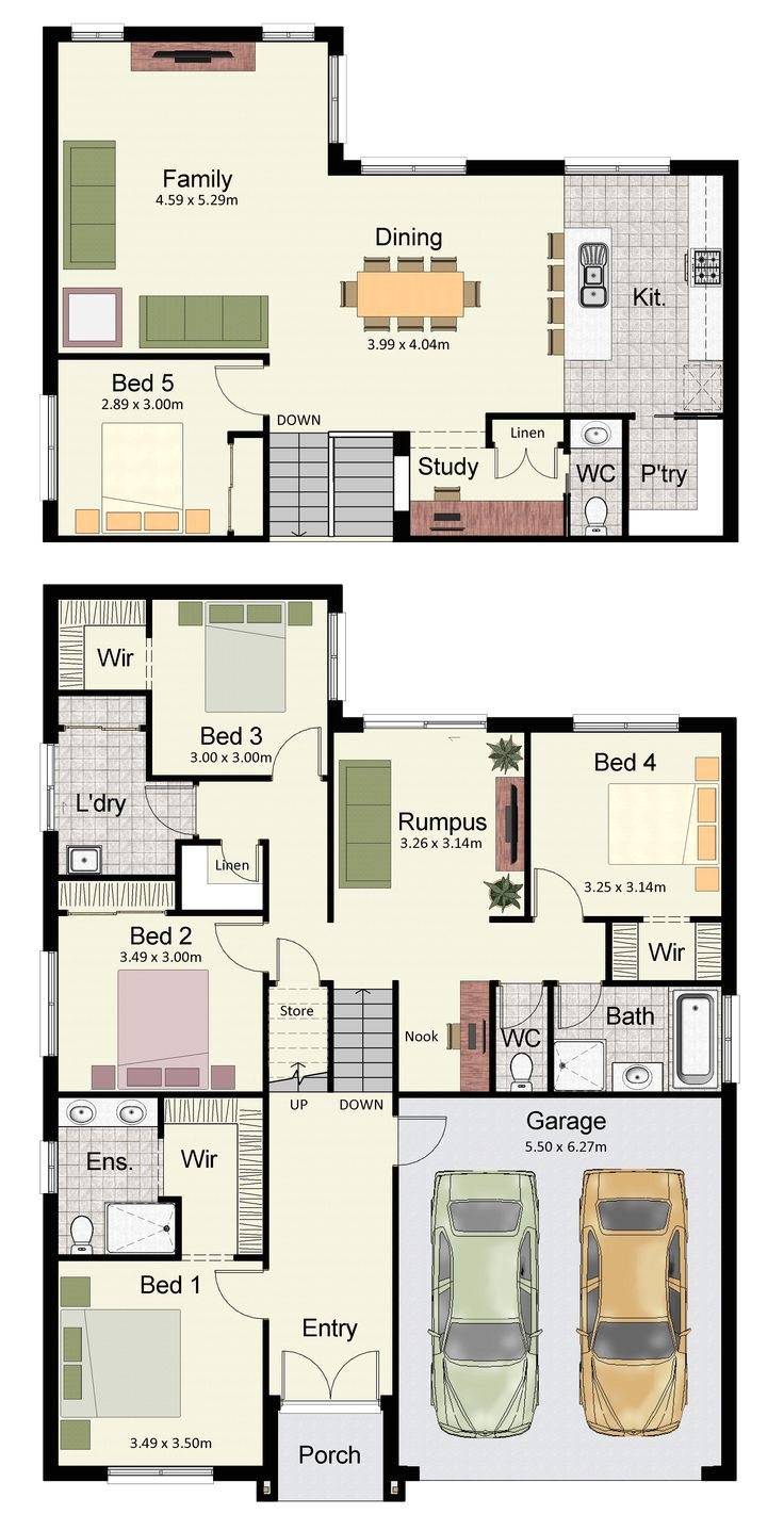 reverse living beach house plans