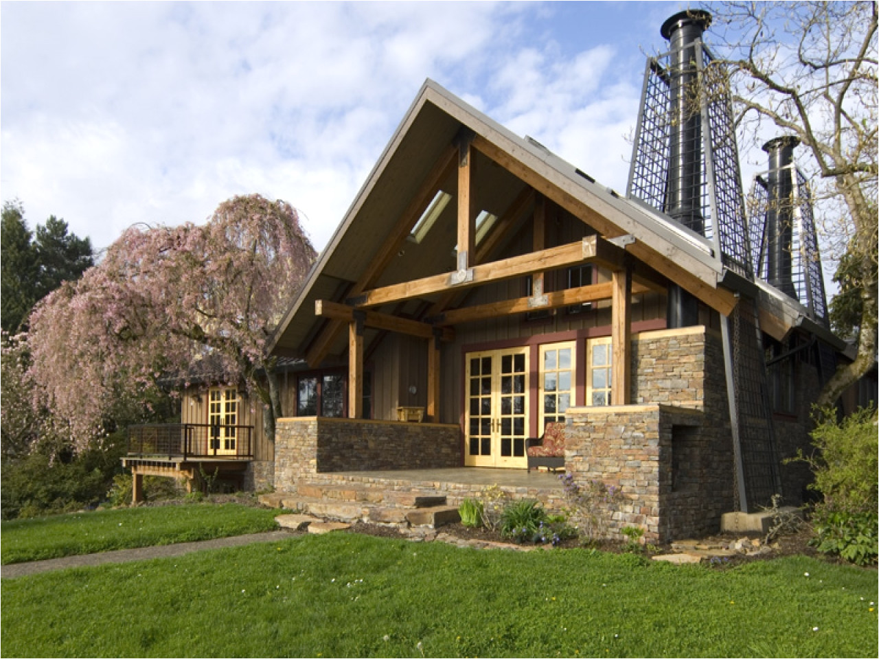 b2f2b5f163c40278 stone cottage in the woods wood and stone house exteriors