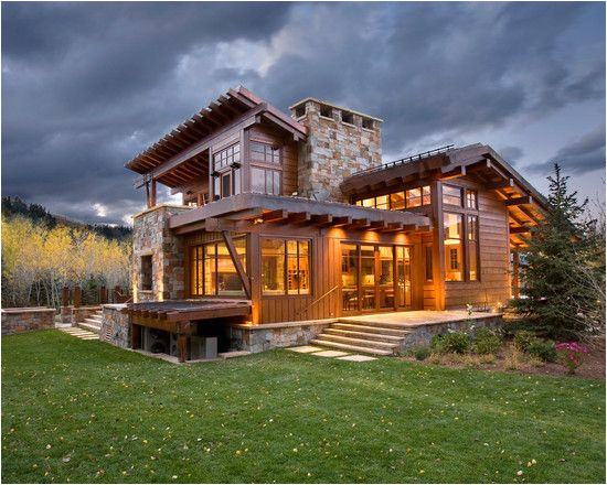 Rustic Contemporary Home Plans Brilliant Contemporary Rustic Home Design Spacious Home